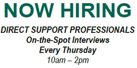 Hiring Event - Direct Support Professionals tickets