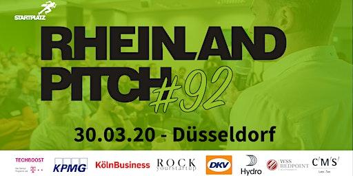 Rheinland-Pitch #92 in Düsseldorf