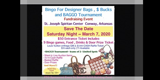 BINGO Night - Win Designer Bags, CASH & More also BAGGO Tournament