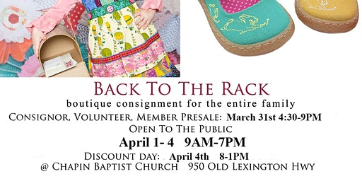 Back To The Rack Spring Consignment Sale