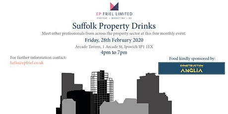 Suffolk Property Drinks - February 2020 tickets