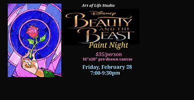 Paint Night: Beauty and the Beast