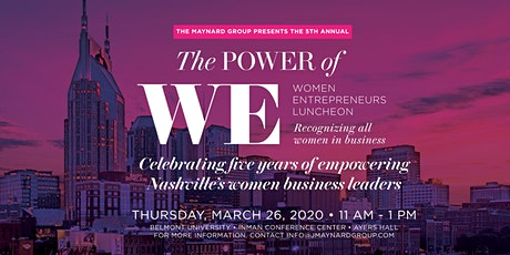 The 5th Annual Power of WE: Women Entrepreneur Luncheon tickets