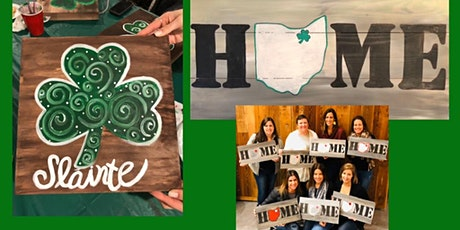 HOME Wood Sign and SHAMROCK Wood Sign Paint and Sip, Your Choice tickets