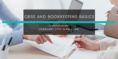 Bookkeeping Basics and QBSE for Freelancers and Sole Proprietors tickets