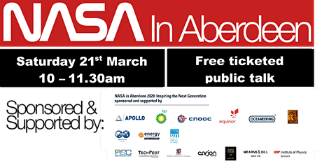 NASA in Aberdeen - Public Talk (Free event) tickets