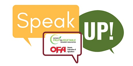 Speak Up for Horticulture - Simcoe tickets