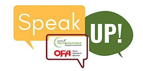 Speak Up for Horticulture - Vineland tickets