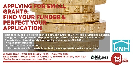 Third Sector Training: Applying for Small Grants tickets