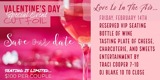 Valentine's Day Event With Music, Wine, and Nibbles For Sharing