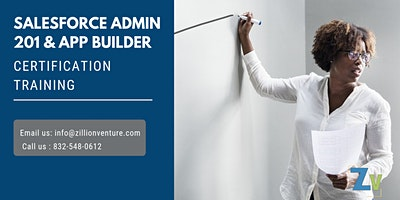 Salesforce Admin 201 and App Builder Certification Training in Timmins, ON.