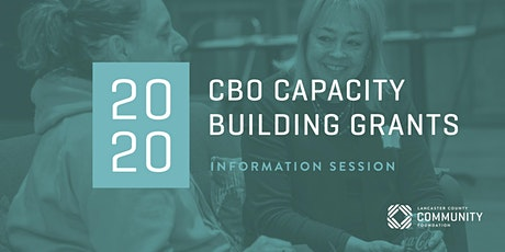 2020 CBO Capacity Building Grants Information Session tickets