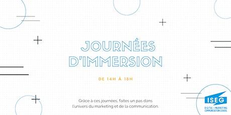 Journée d'Immersion à l'ISEG Paris billets
