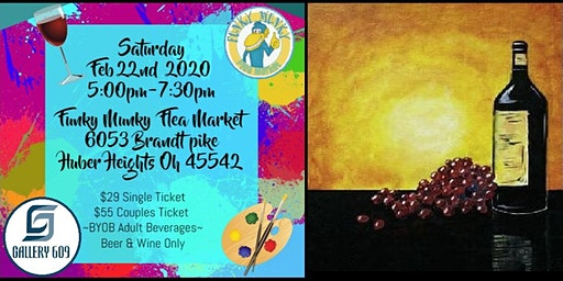 """Wine and Grapes""  Feb 22nd Paint & Sip"