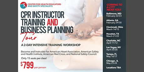 Mobile CPR Instructor Training and CPR Business Planning Tour- Atlanta tickets