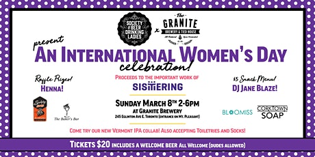 The Society of Beer Drinking Ladies: International Women's Day Celebration! tickets