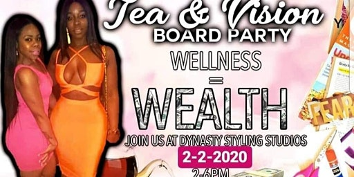 Copy of Tea&Vision Board Party Wellness=Wealth