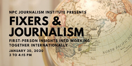 Fixers and Journalism: First-person insights into working together internationally tickets