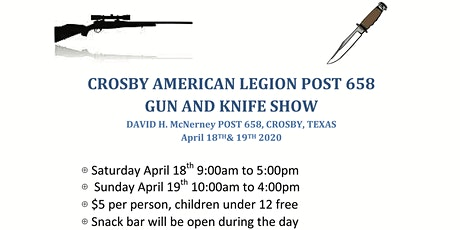Crosby American Legion Gun & Knife Show tickets