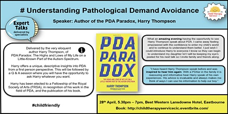 Undestanding PDA - With Harry Thompson #PDAParadox tickets