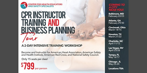Mobile CPR Instructor Training/CPR Business Planning Tour/CNA School- Tampa