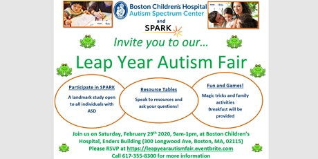 Leap Year Autism Fair tickets