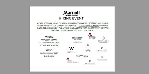Marriott International Multi-Property Hiring Event