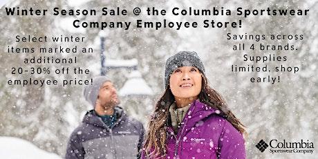 Winter Season Sale at the Columbia Sportswear Company Employee Store tickets