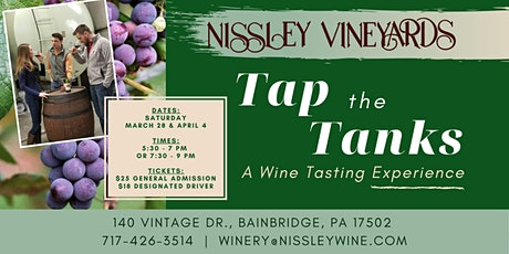 Tap the Tanks - A Wine Tasting Experience tickets