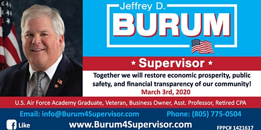Support Jeffrey Burum for Supervisor at the Oxnard INCO Candidate Forum 2/5