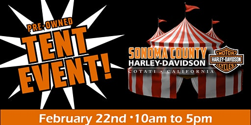 Pre-owned Tent Event at Sonoma  County Harley-Davidson