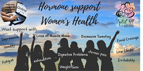Online - Hormone Support - Naturally with doTERRA  oils - Women's Health tickets