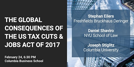 The Global Consequences of the US Tax Cuts and Jobs Act of 2017 tickets