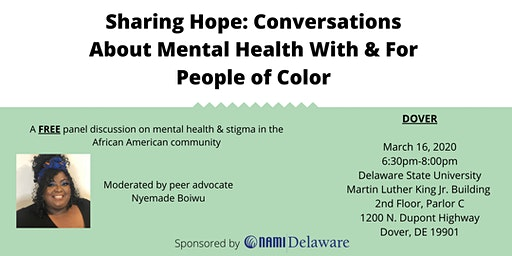 Dover - Sharing Hope: Mental Health with & for People of Color