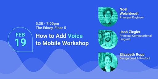 How to Add Voice to Mobile Workshop