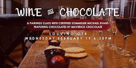 LouVino OTR Tasting Class: Chocolate & Wine Pairing tickets