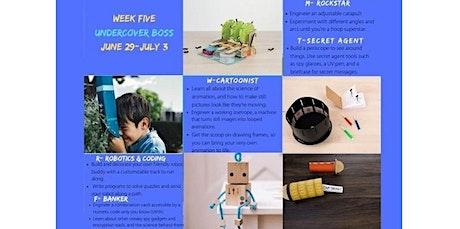 Pinspiration Summer STEAM Camp- Week Five UNDERCOVER BOSS (06-29-2020 starts at 9:30 AM) tickets
