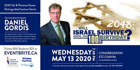 2020 Sol and Florence Kanee Distinguished  Lecture with Daniel Gordis tickets
