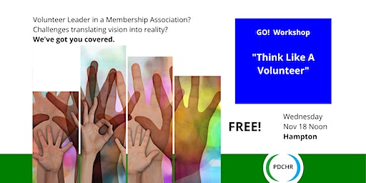 PDCHR GO! Workshop—Think Like a Volunteer: Energizing Your Event Staff