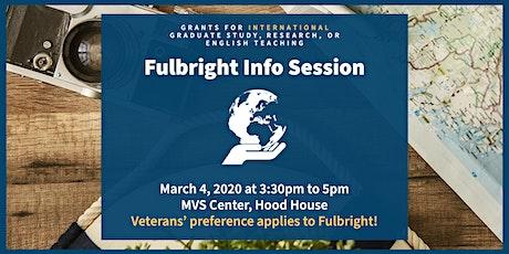 MVS Fulbright Info Session tickets