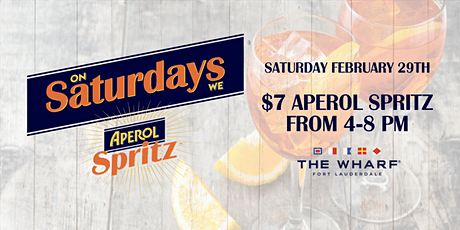 On Saturdays We Spritz! at The Wharf Fort Lauderdale tickets
