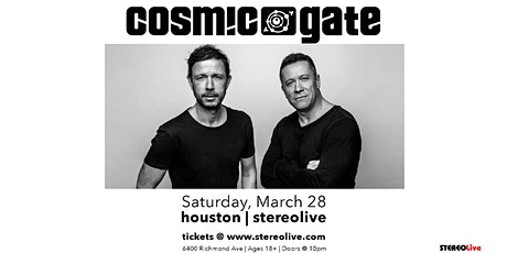 Cosmic Gate - Stereo Live Houston tickets