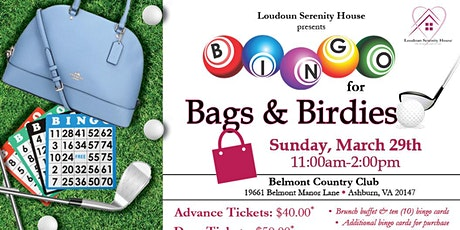 Bingo for Bags and Birdies tickets