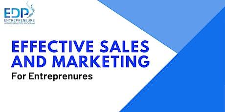 Entrepreneurship - Sales and Marketing tickets