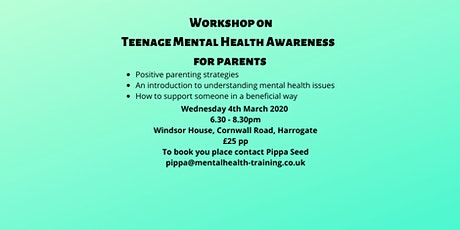Teenage Mental Health Awareness workshop for parents tickets
