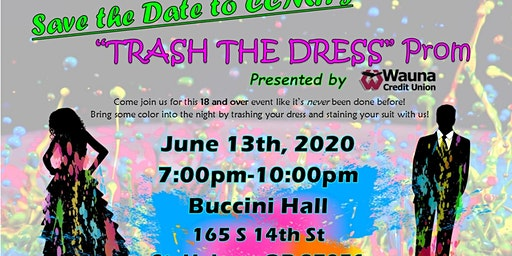 """2020 CCMH Adult """"Trash Your Dress"""" Prom"""