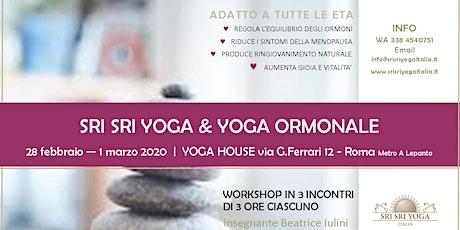 SriSri Yoga & Yoga ormonale biglietti
