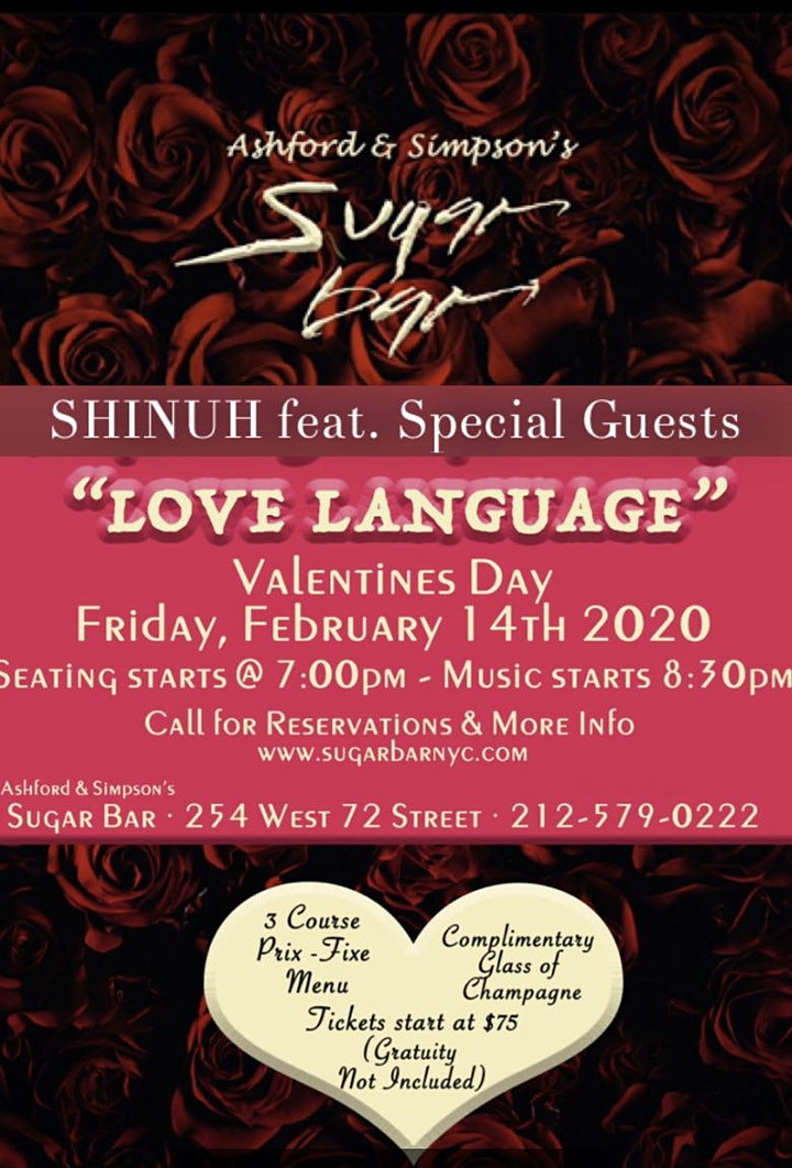 "Shinuh presents A Valentine's Special ""LOVE LANGUAGE"" feat. Special Guests image"