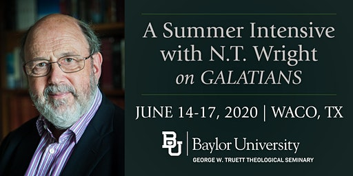 Summer Intensive with N.T. Wright