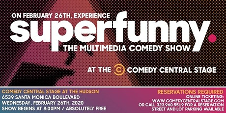 SUPERFUNNY: The Multimedia Comedy Show tickets